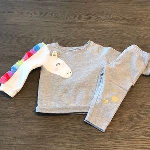 Carters unicorn matching set